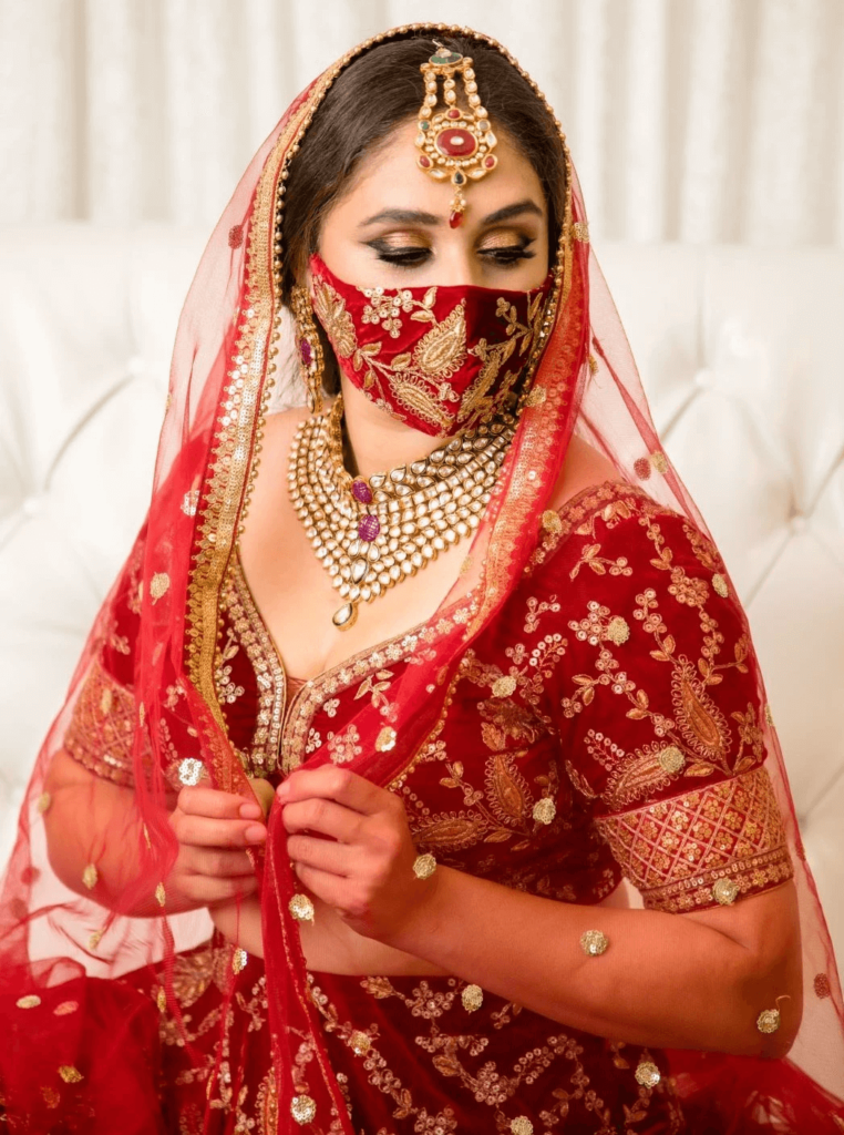 Indian Themed Bridal Face Mask