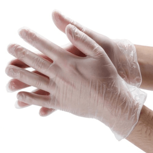 clear vinyl gloves for sale