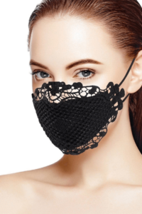 lace polyester face mask design idea