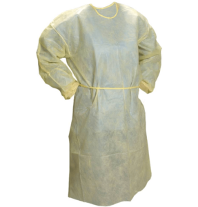 isolation gown yellow