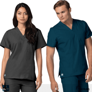 medical apparel gray and blue
